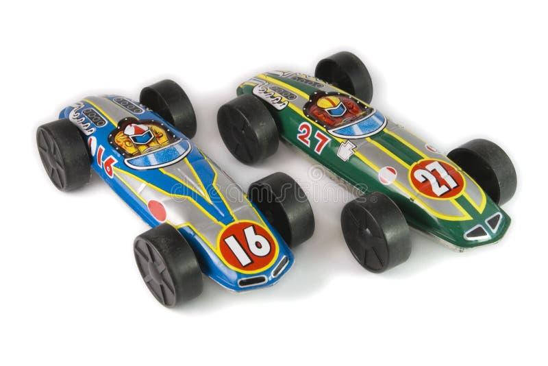 игрушки олова автомобилей стоковая фотография
