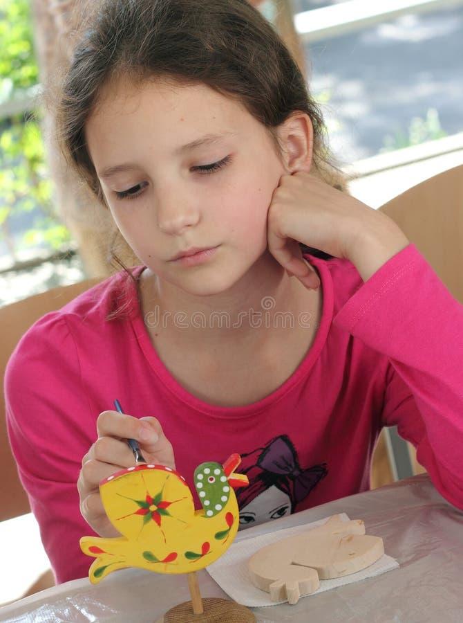 Игрушки покрашенных вручную детей творческие стоковая фотография