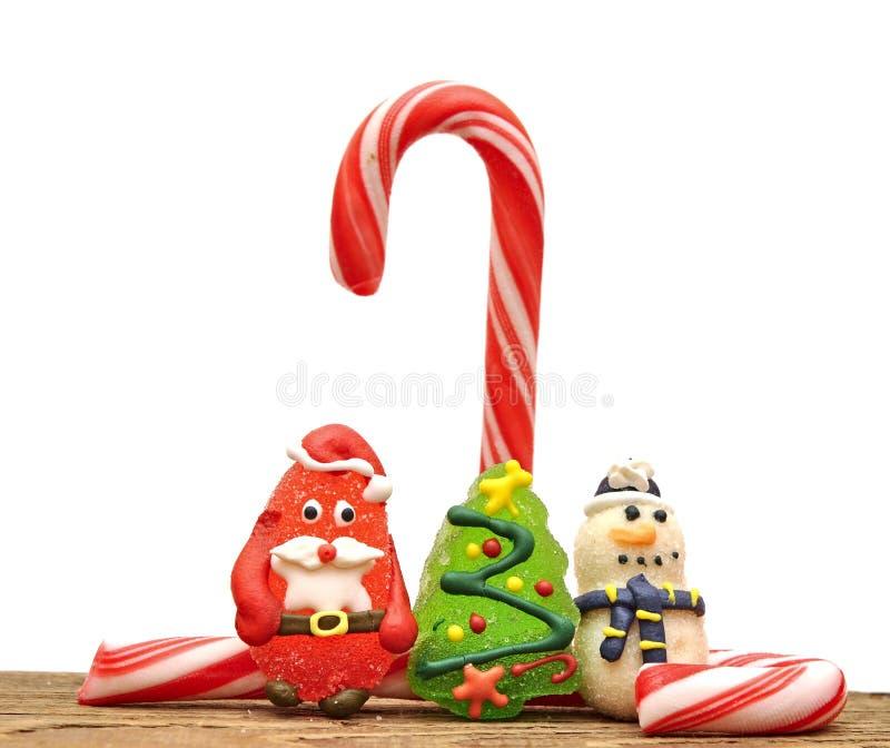 игрушки рождества тросточек конфеты стоковое изображение