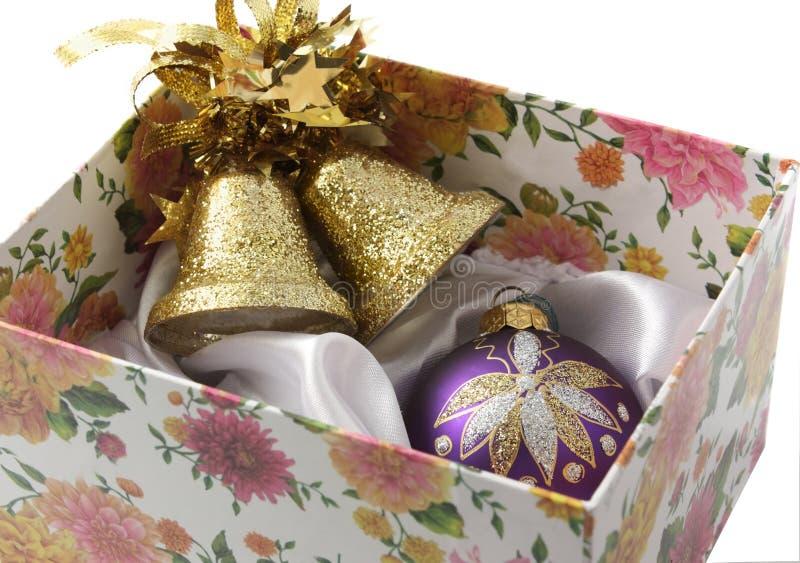 Download игрушки рождества box3 стоковое изображение. изображение насчитывающей present - 6852087