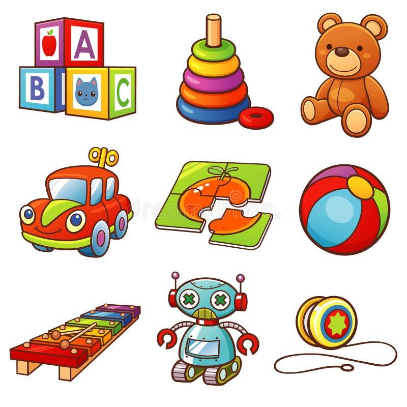 игрушки иллюстрация вектора