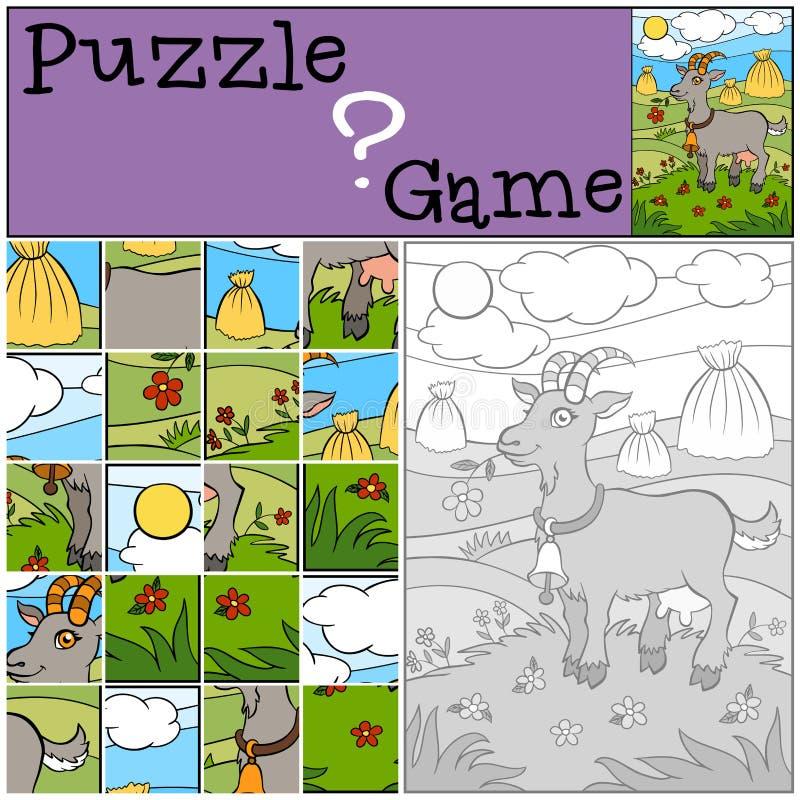 Игры детей: Головоломка Маленькая милая коза бесплатная иллюстрация