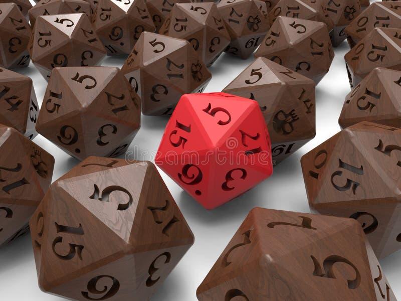 Игры игры роли dices иллюстрация вектора