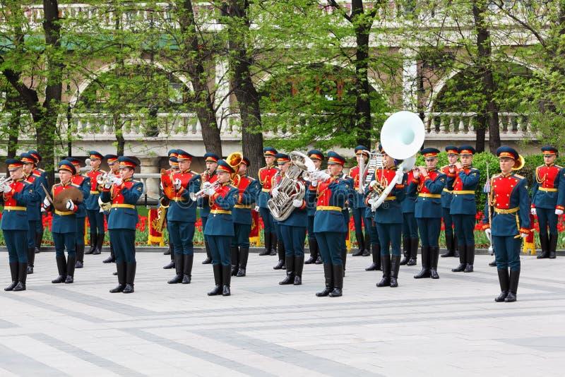 игры оркестра воинского нот стоковые изображения rf