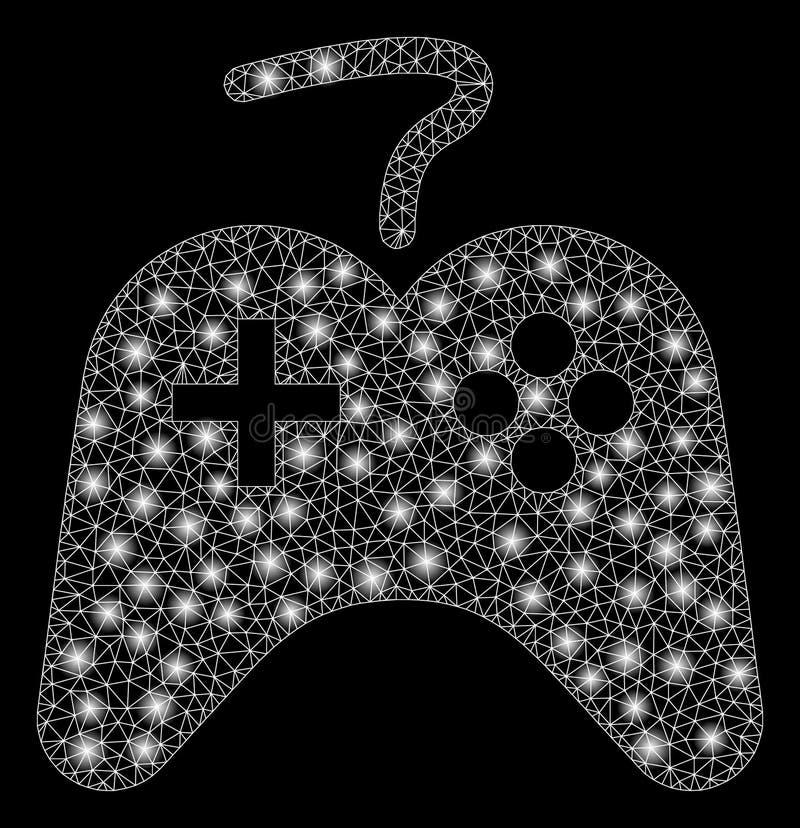 Игры туши сетки пирофакела утешают с засветками экрана иллюстрация штока