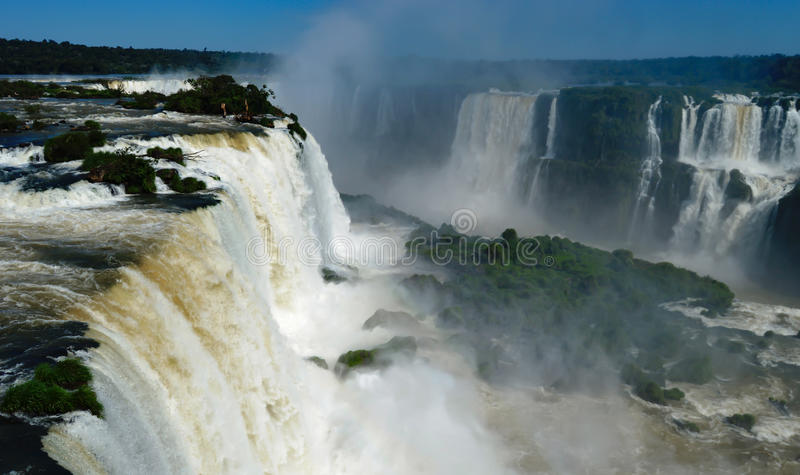 Игуазу Фаллс Бразилия Аргентина Парагвай стоковое фото