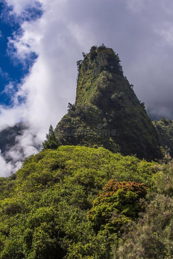 Игла Iao в Гаваи стоковые фото