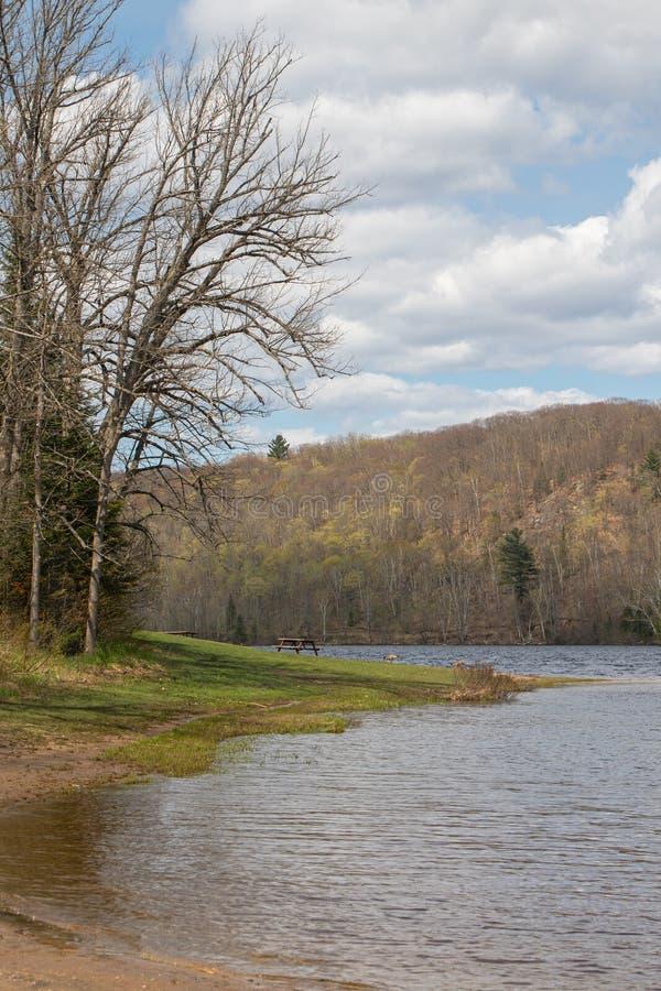 Идеальный весенний день на озере в парке наконечника стоковые фото
