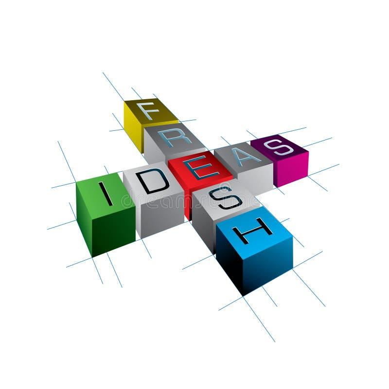 идеи принципиальной схемы свежие иллюстрация вектора