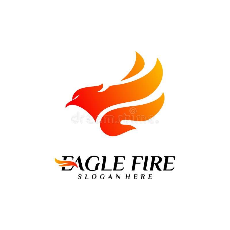 Идеи проекта логотипа птицы огня Феникса Вектор шаблона логотипа орла голубя r бесплатная иллюстрация