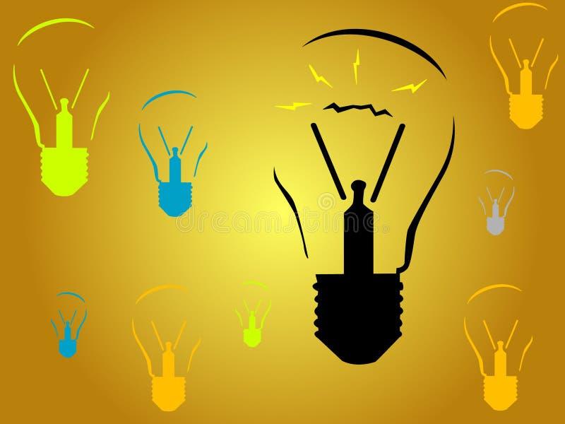 идеи шариков освещают новую иллюстрация вектора