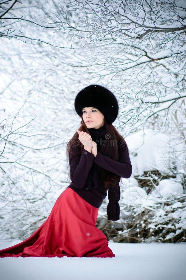 Download идет женщина снежка стоковое изображение. изображение насчитывающей бежать - 18385965