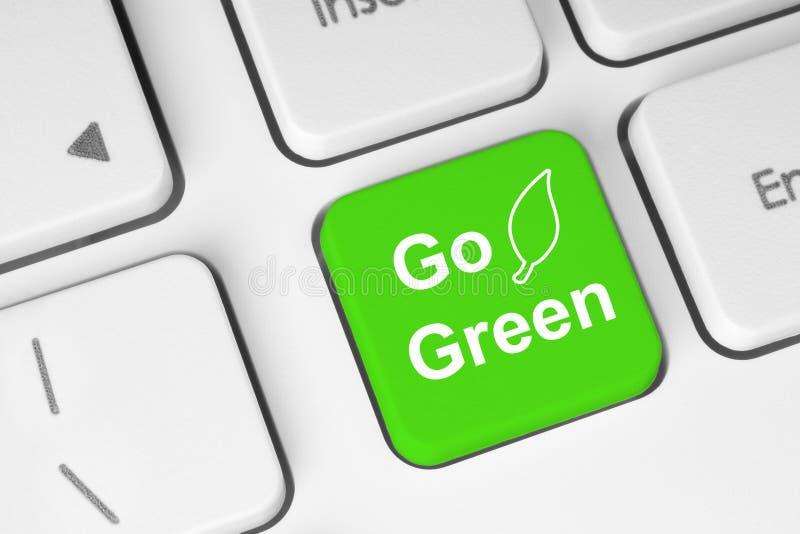 Идет зеленая кнопка стоковые фотографии rf