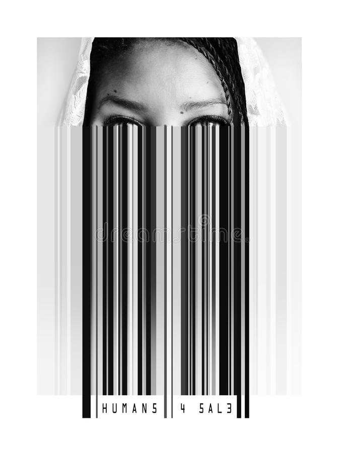 Идея для самой уязвимой оплаты цена торговли людьми бесплатная иллюстрация