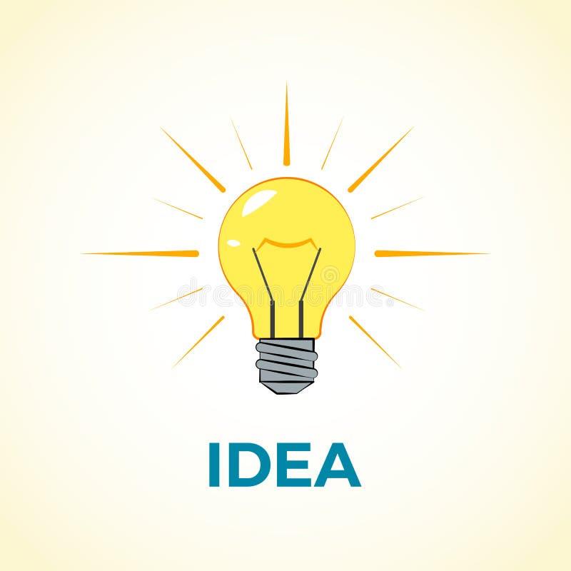 Идея концепции дела творческая с светлым шариком лампы Знамена вебсайта и продвижения Плоская иллюстрация вектора дизайна иллюстрация штока
