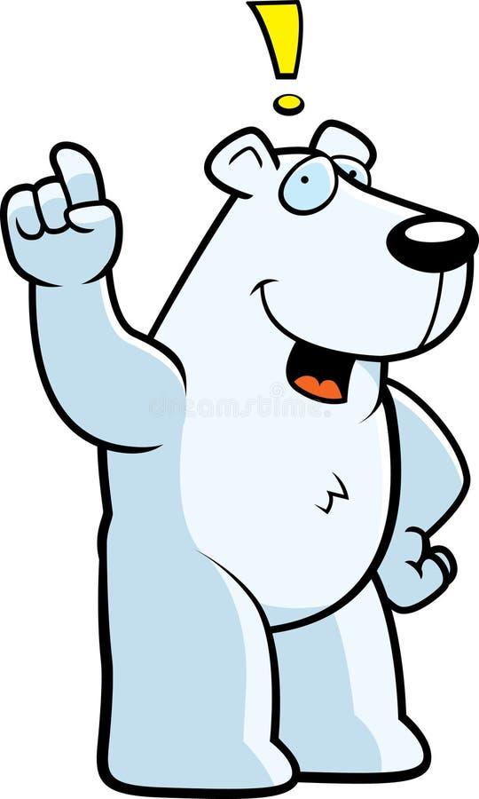 идея медведя приполюсная иллюстрация вектора