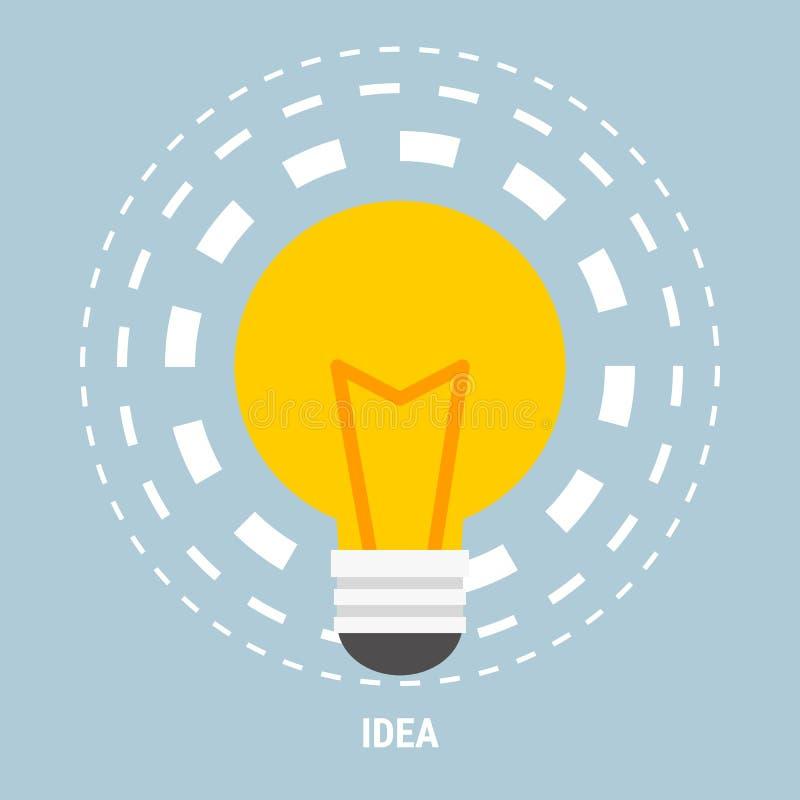 Идея плоской концепции иллюстрации дела вектора дизайна творческая с светлым шариком лампы для знамен вебсайта и продвижения иллюстрация штока