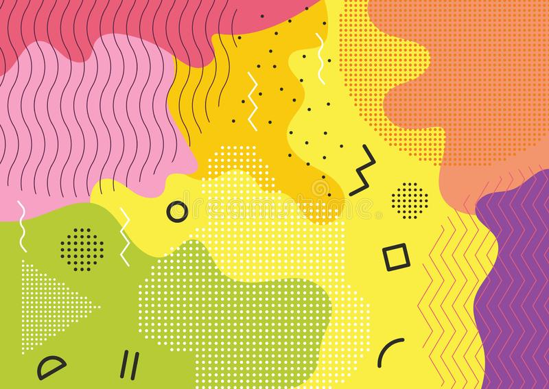 Идея проекта знамени спортивной площадки детей иллюстрация вектора
