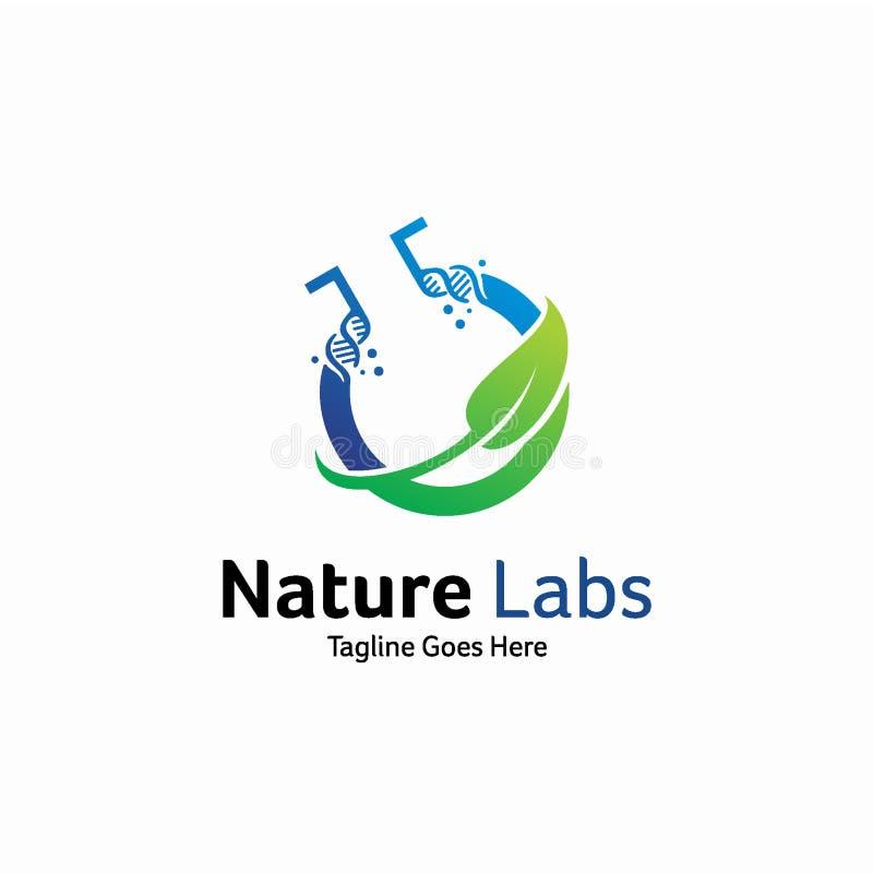 Идея проекта логотипа лаборатории природы, шаблон логотипа ДНК иллюстрация штока