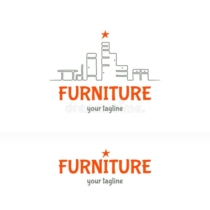 Идея проекта логотипа мебели стоковая фотография rf