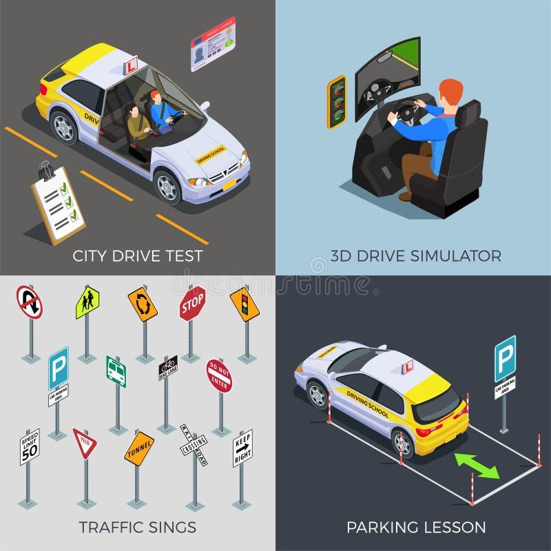 Идея проекта экзамена по вождению бесплатная иллюстрация