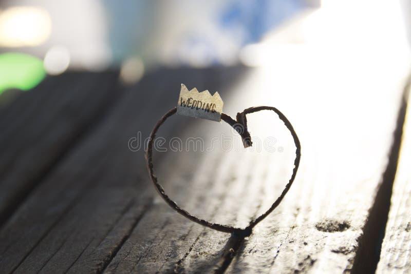 Идея свадьбы - надпись и сердце стоковое фото rf