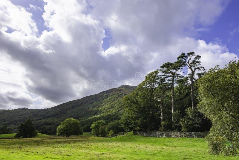 Идилличный ландшафт района озера, Cumbria, Великобритании стоковые изображения