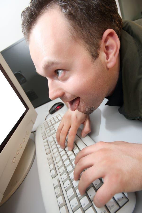 идиот компьютера стоковое фото rf