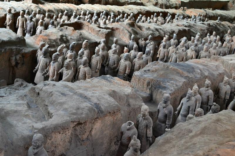Идите ближе к ратникам терракоты в XI `, Китае Оно ` s t стоковое изображение rf