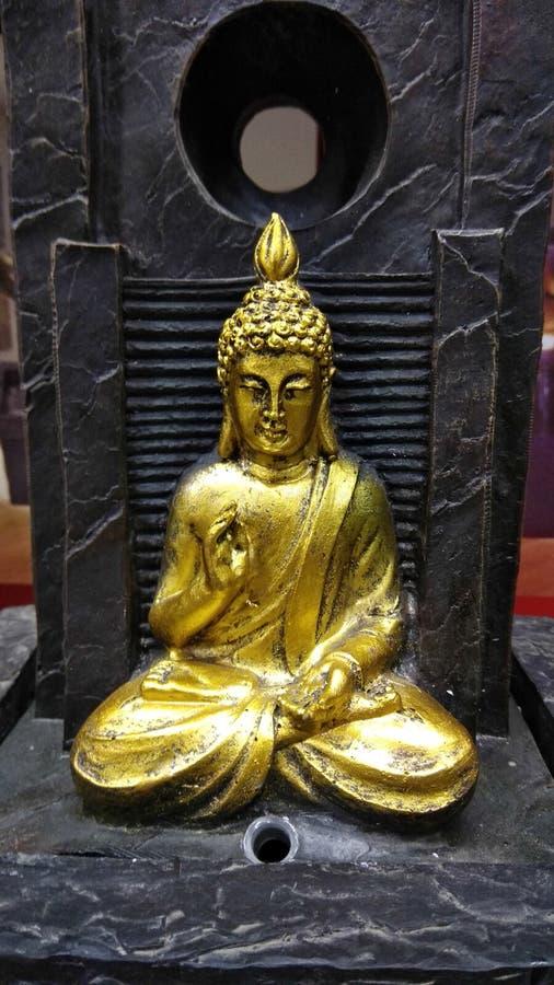 Идол золота Будды стоковое фото