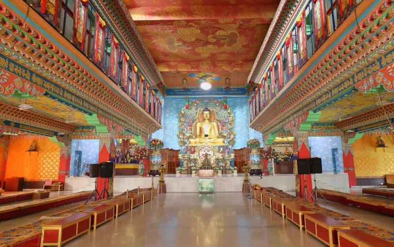 Идол лорда Будды в монастыре gaya Bodh, Бихара Индии стоковые фото
