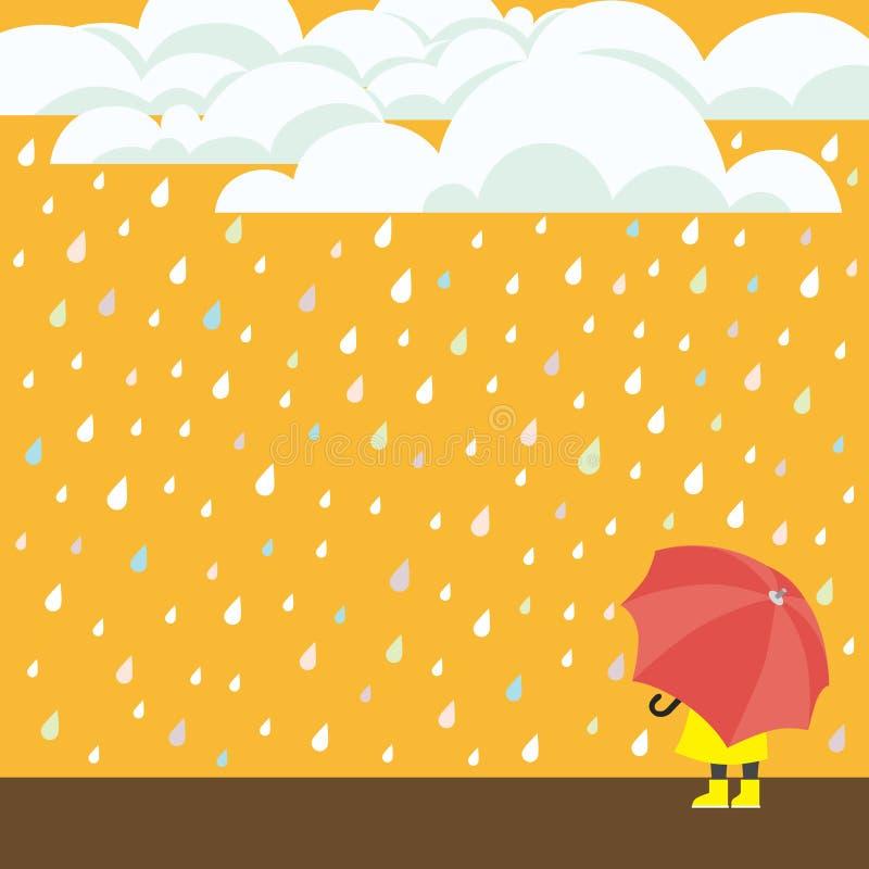 идти дождь иллюстрация штока
