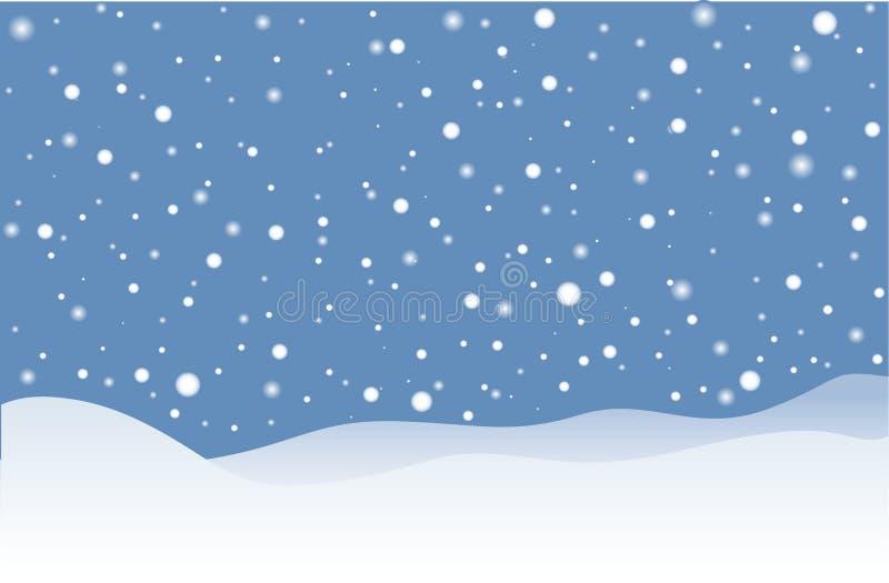 Идти снег иллюстрация штока