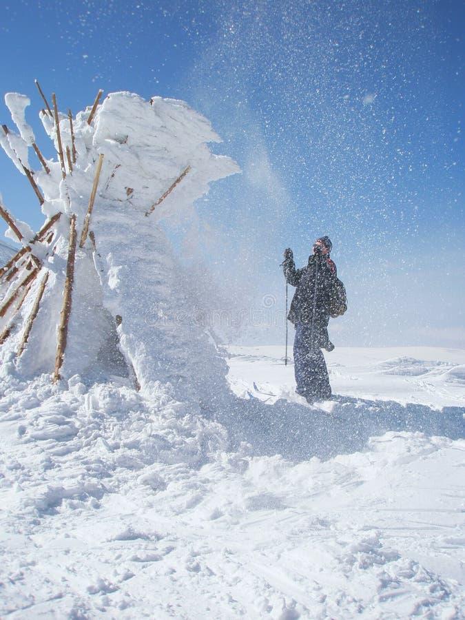 идти снег s стоковое фото rf