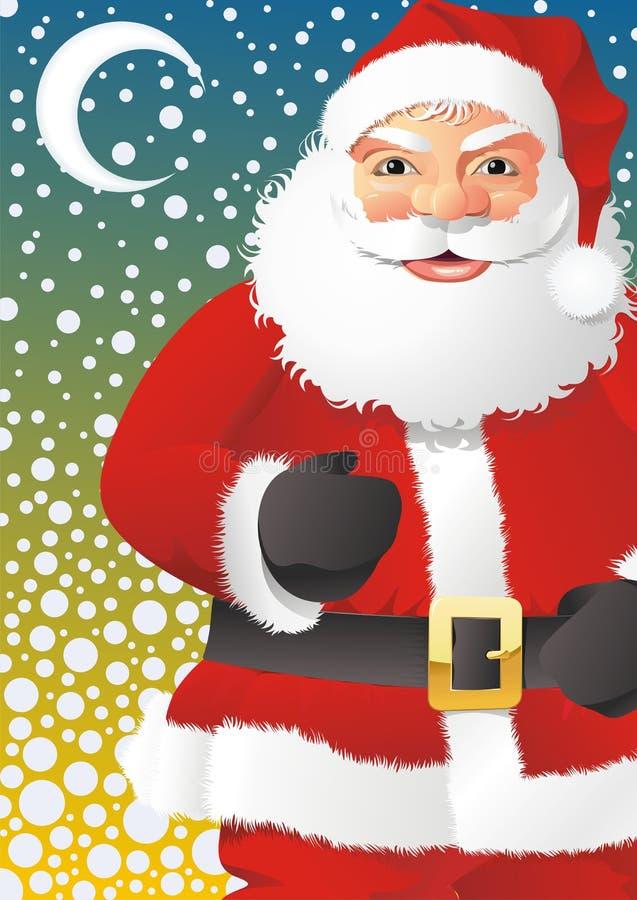 идти снег santa hight claus иллюстрация штока