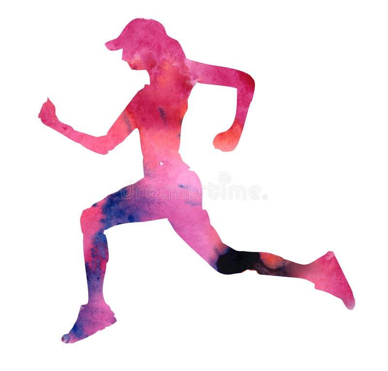 Идущая женщина на предпосылке красочной предпосылки стоковая фотография