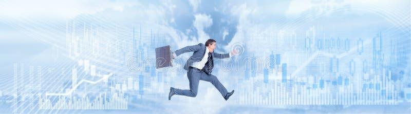 Идущая предпосылка бизнесмена стоковое изображение