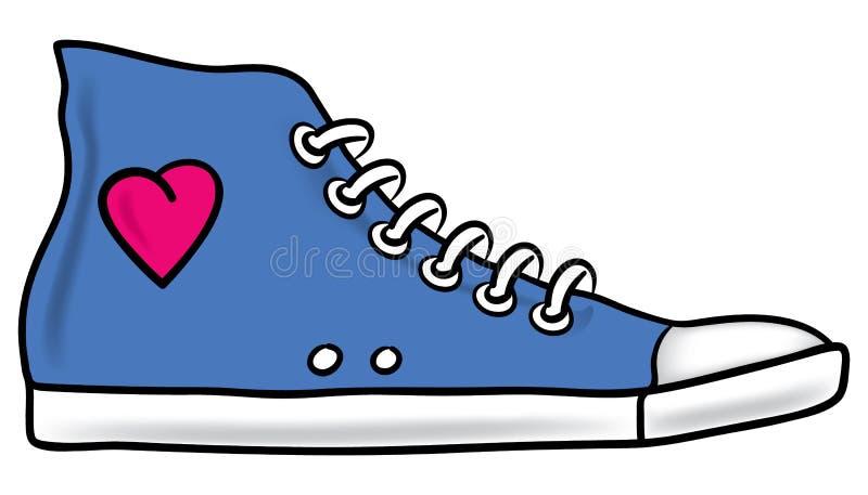 идущий ботинок иллюстрация штока