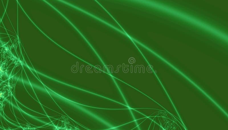 Идя зеленая неоновая голографическая предпосылка Яркая жидкая жидкость Неоновая текстура голографии с линиями иллюстрация штока