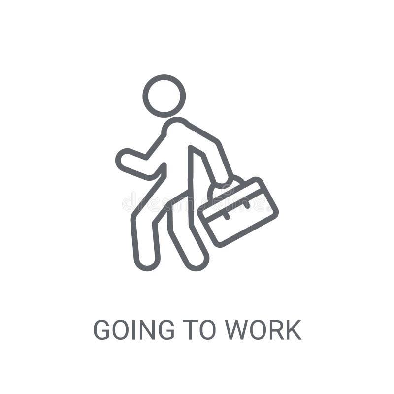 идя икона, котор нужно работать Ультрамодный идти работать концепция логотипа на белом b бесплатная иллюстрация