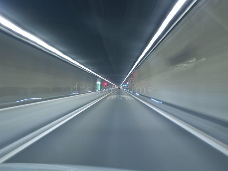 идя тоннель gotthard стоковое фото