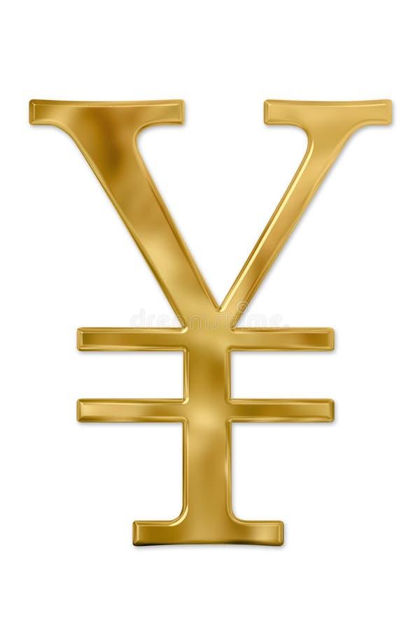 иены знака золота стоковое изображение
