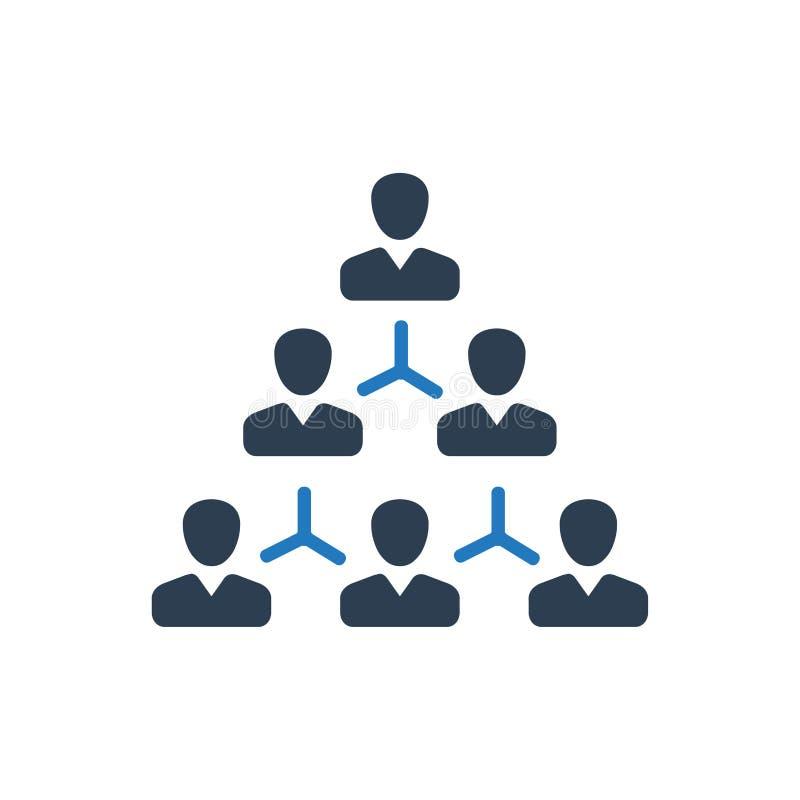 Иерархия, значок структуры работника иллюстрация штока