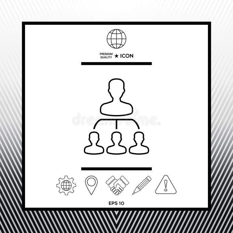 Иерархия - линия значок бесплатная иллюстрация