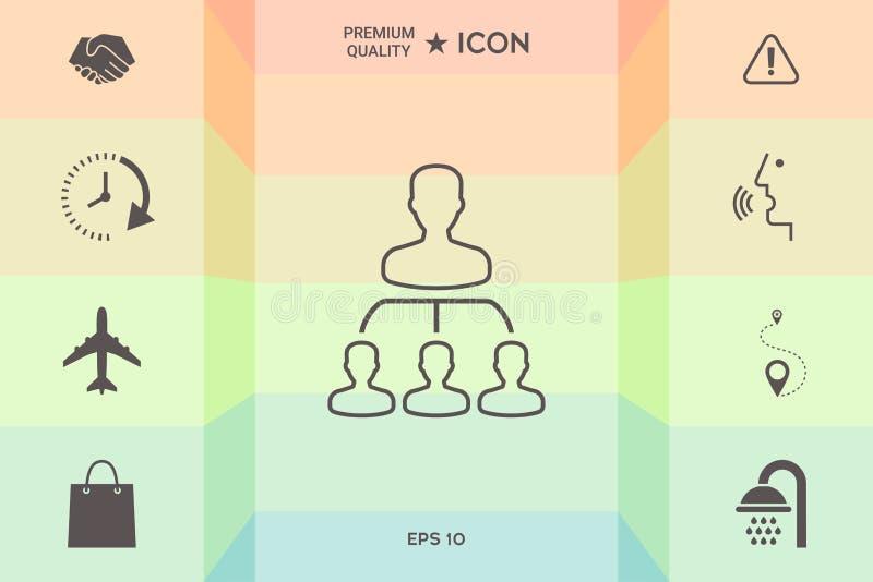 Иерархия - линия значок иллюстрация штока