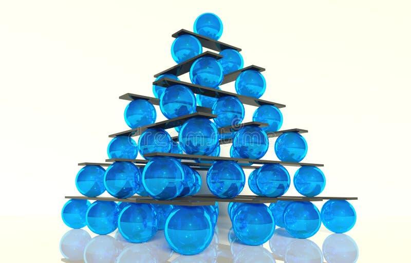 иерархия принципиальной схемы шарика баланса 3d иллюстрация вектора