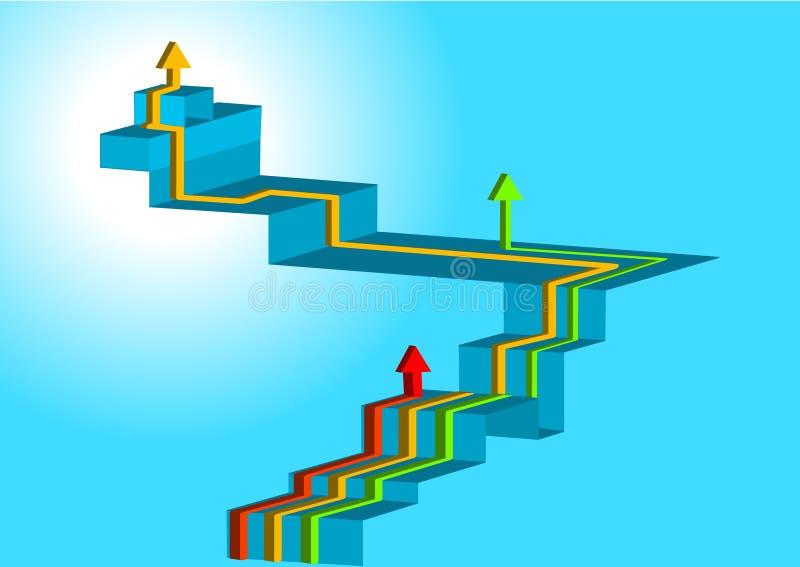 иерархия принципиальной схемы иллюстрация вектора