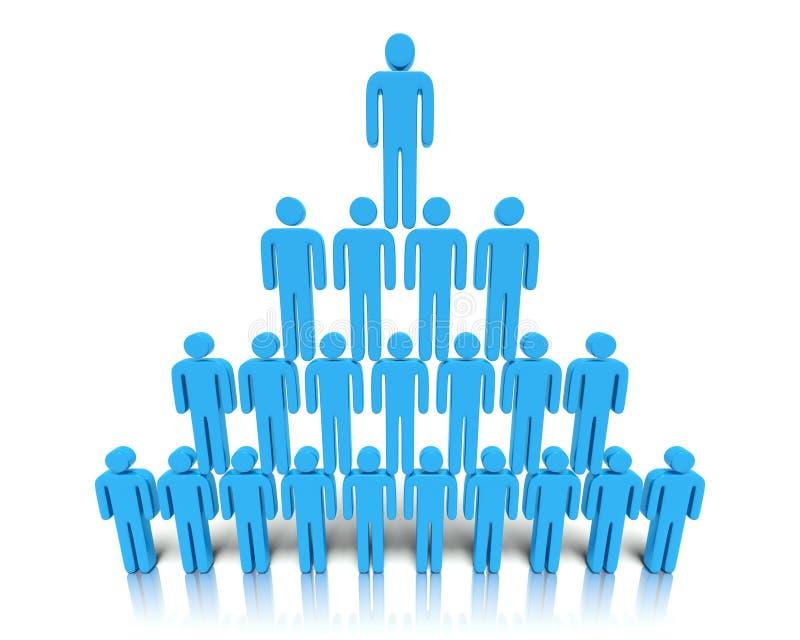 Иерархия людей. Стоковое Фото
