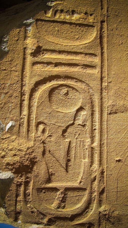 Иероглиф на руинах виска Amun, Soleb, Судана стоковые изображения