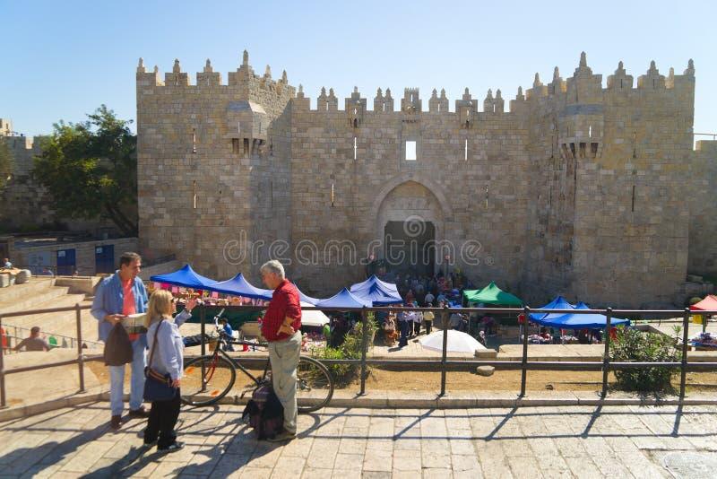 ИЕРУСАЛИМ, ИЗРАИЛЬ - 2-ОЕ НОЯБРЯ: Дамаск строб стоковые изображения